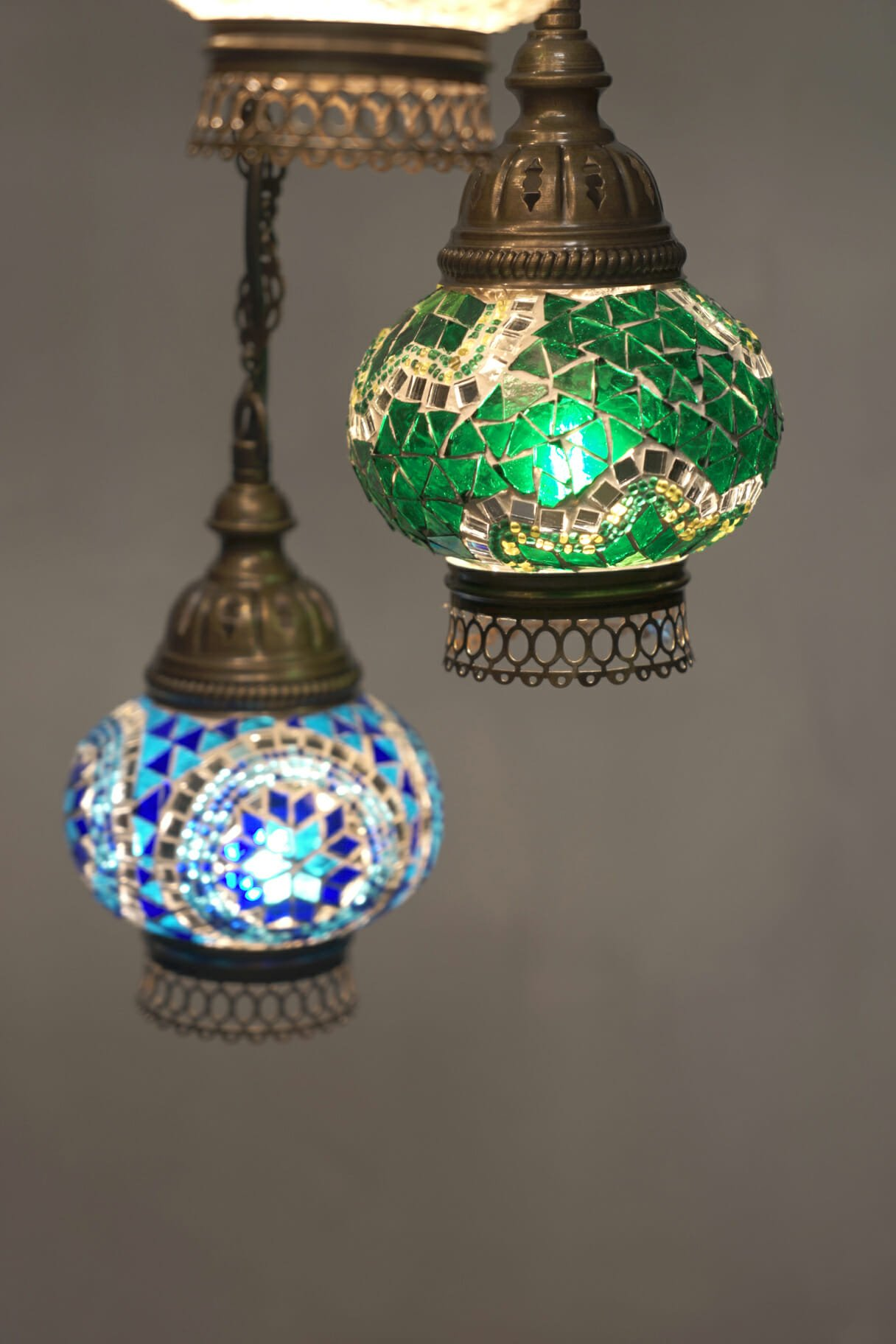 Highest quality mosaic chandeliers turkish lights 5 piece mixed colour mosaic chandelier turkish moroccan mosaic chandelier 5 piece spiral green globe aloadofball Images