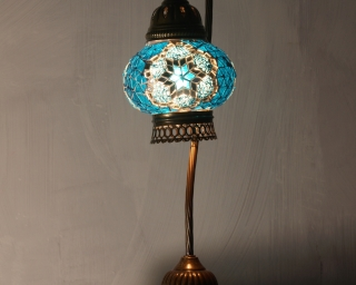 Blue Mosaic Table Lamp small