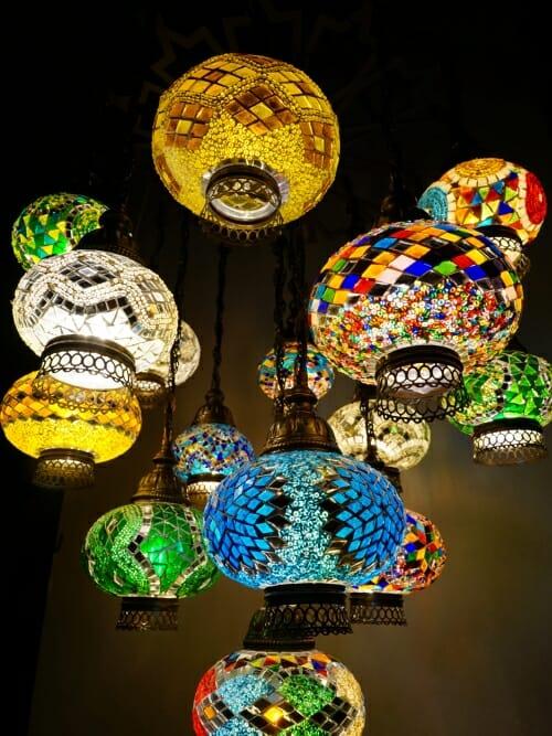 16 piece multi colour turkish chandelier