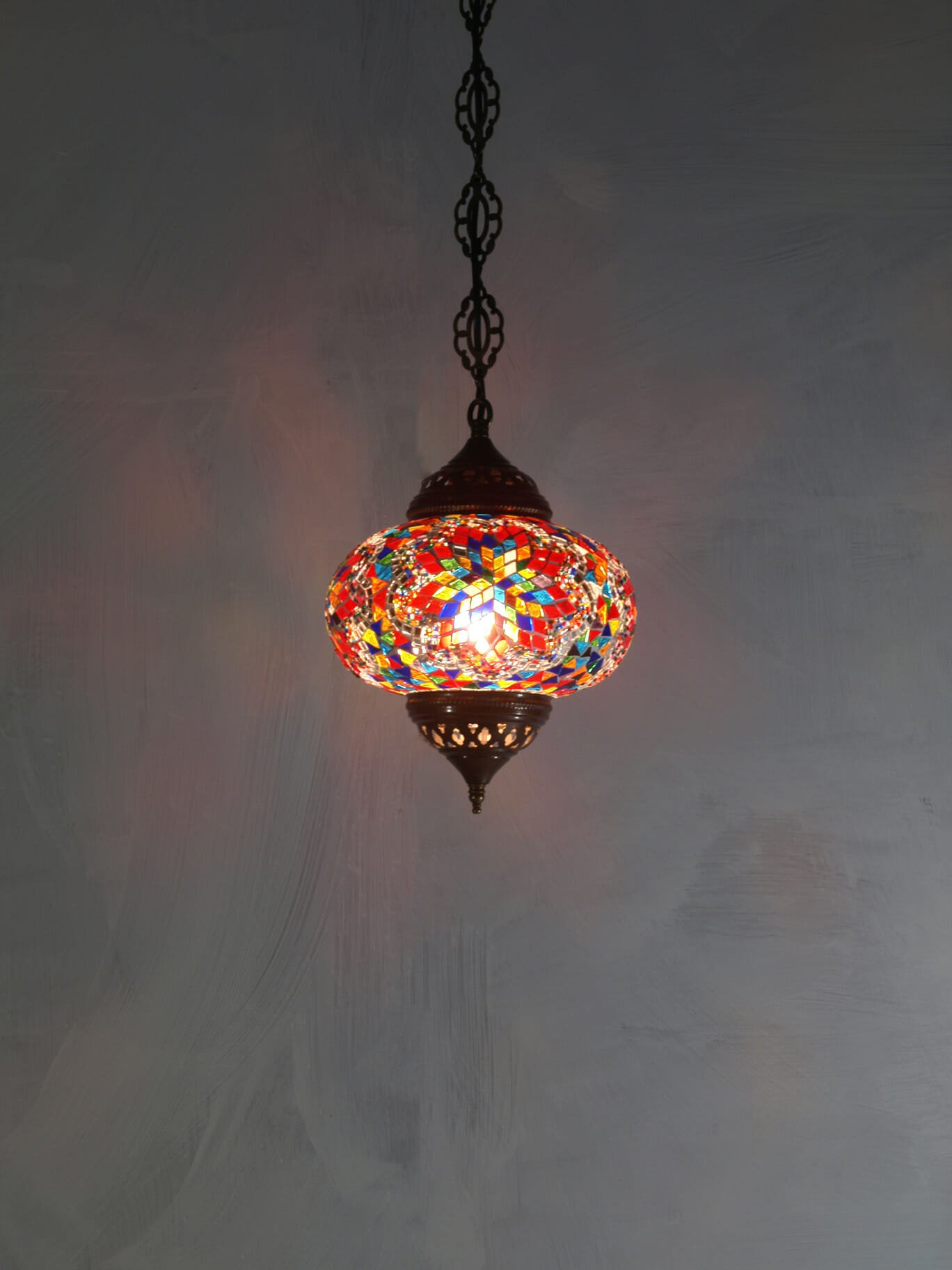 Multi Coloured Mosaic Ceiling Light The Dancing Pixie