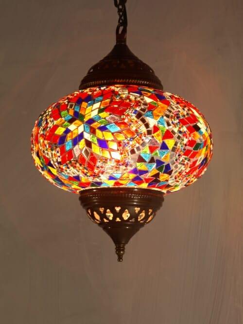 22cm-Hanging-Mosic-Globe-multi coloured