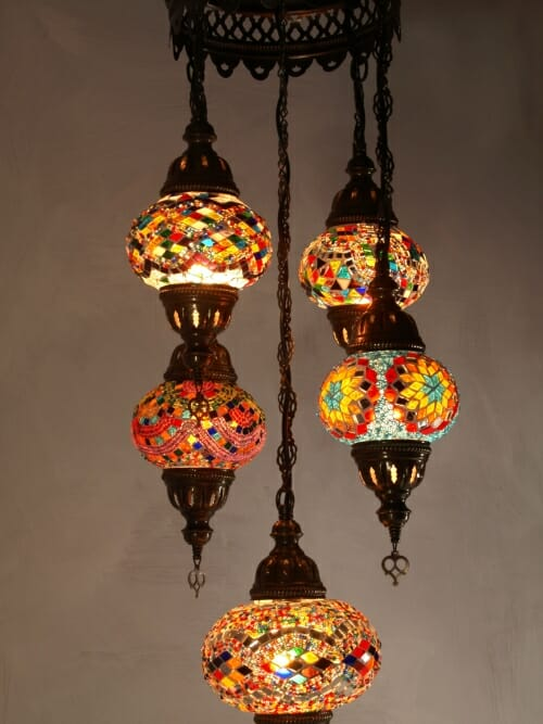 Mosaic-Chandelier-mixed-5-piece-multi-coloured
