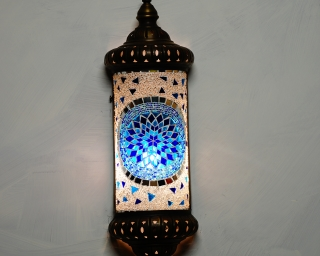 Wall Light Blue Mosaic 117cm