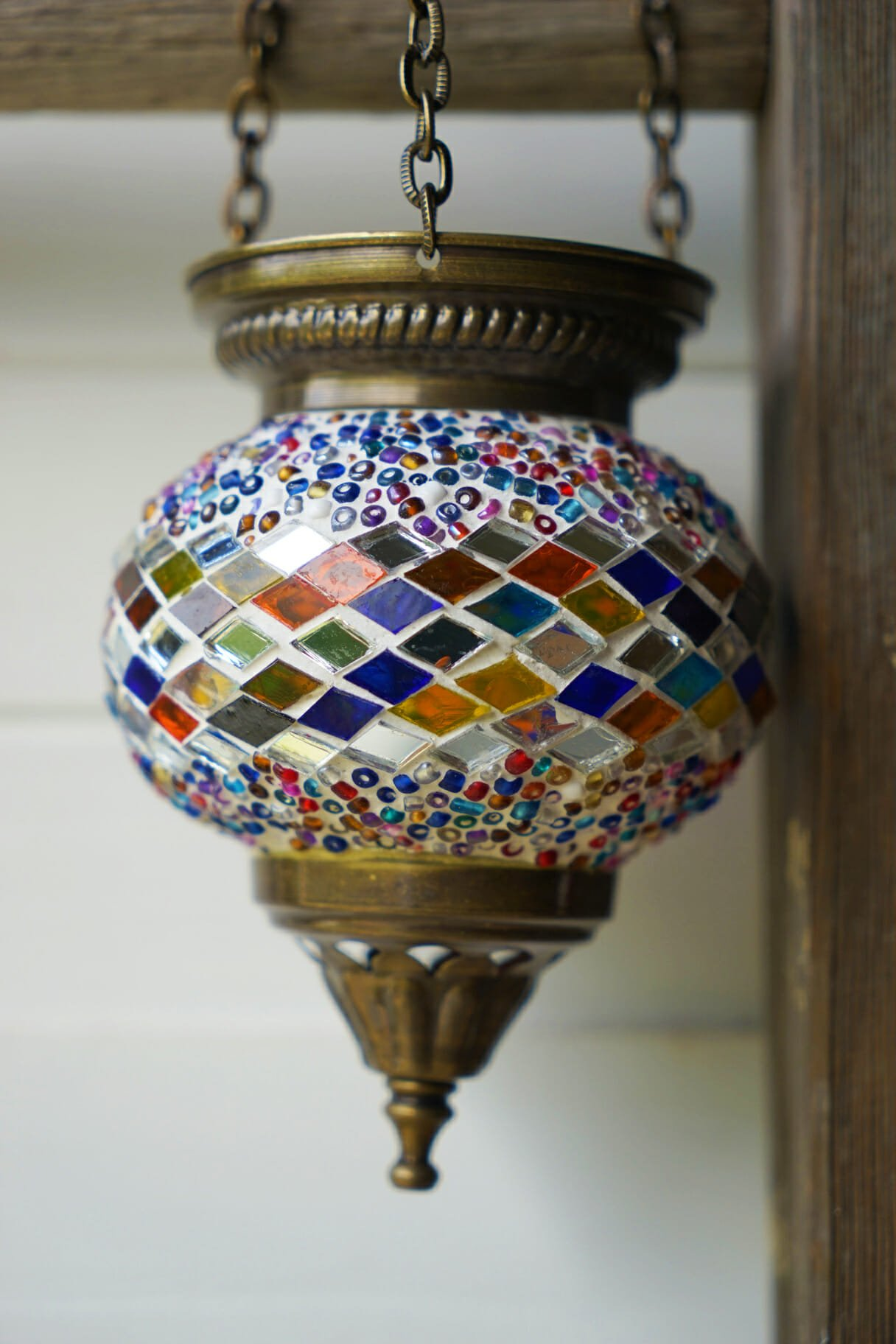 Diamond Mosaic Hanging Candle Holder The Dancing Pixie