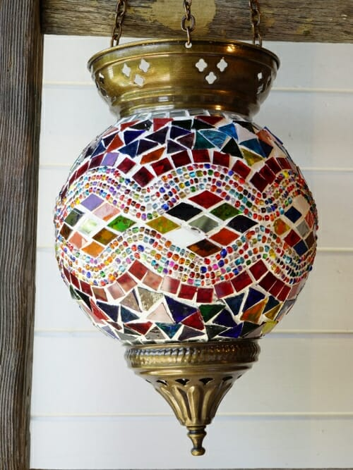 Hanging Turkish Mosaic Candle Holders Diamond 2