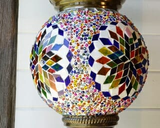 Hanging Turkish Mosaic Candle Holders Snowflake