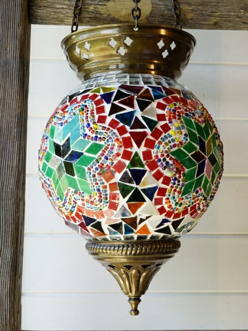 Hanging Turkish Mosaic Candle Holders Star
