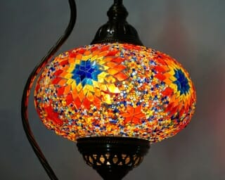 Turkish Mosaic Table Floor Lamp Sun