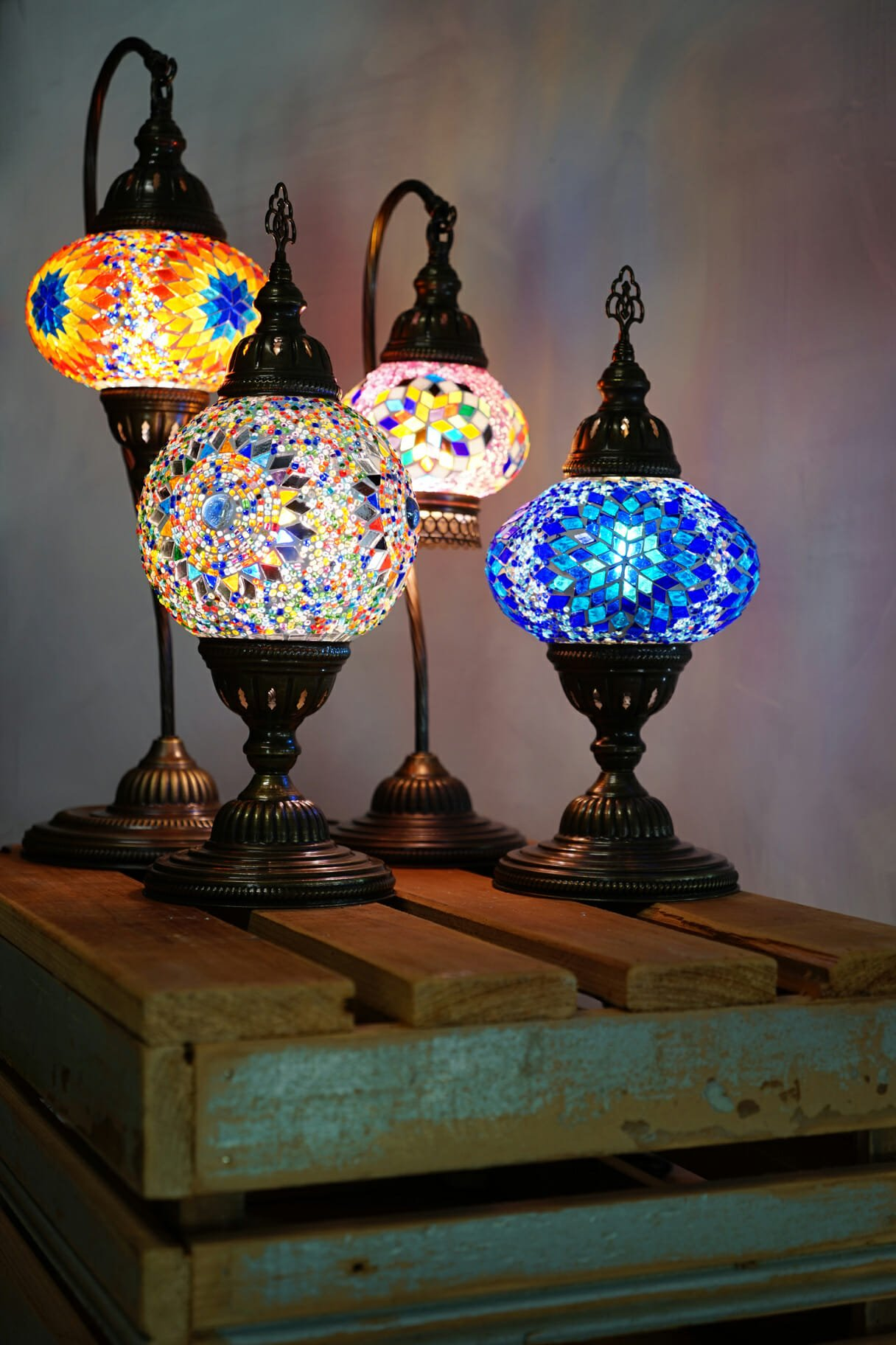 Star ufo mosaic table lamp the dancing pixie turkish mosaic table lamps 4 sizes 3 aloadofball Choice Image