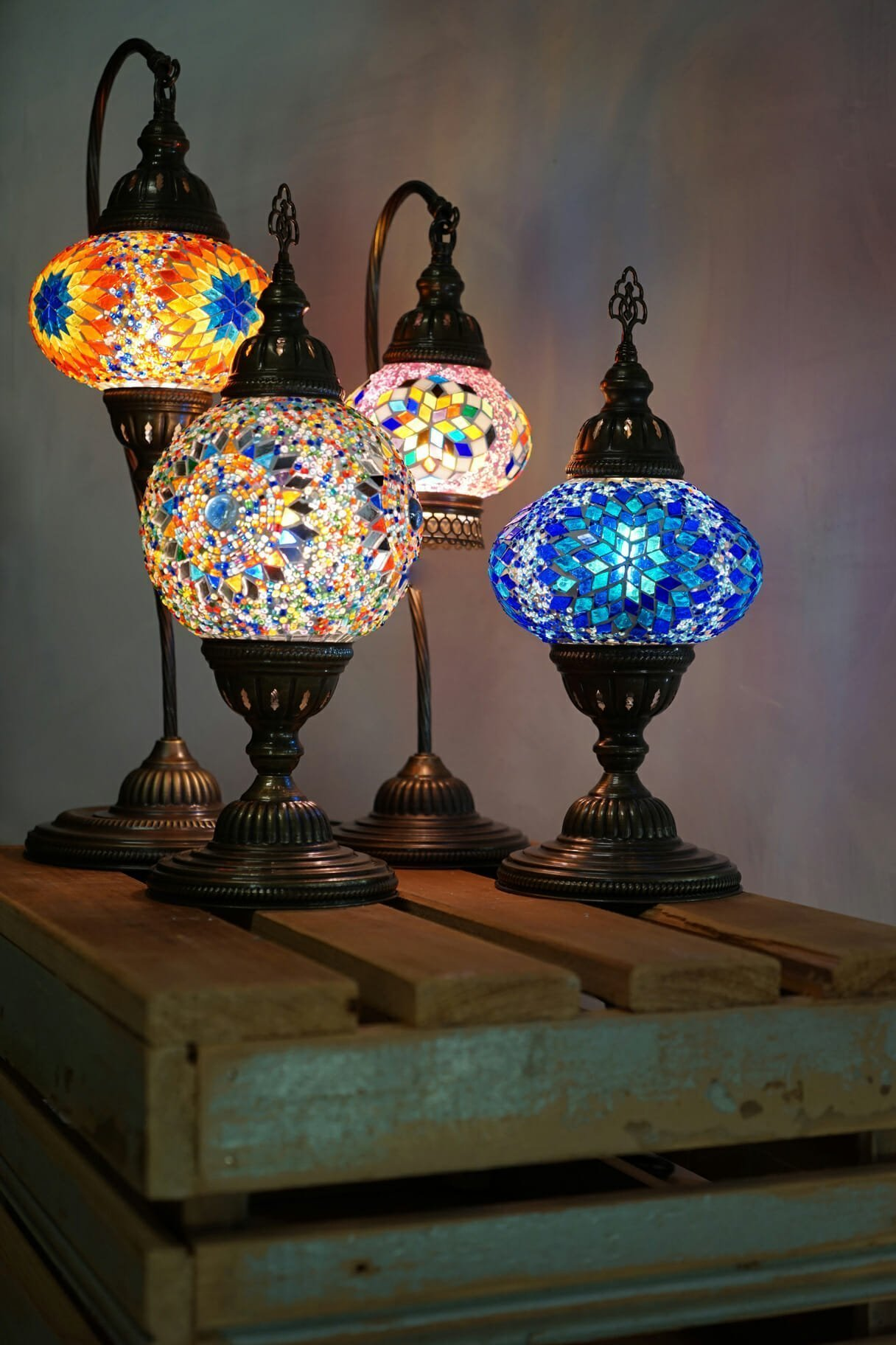 Clear ufo mosaic table lamp the dancing pixie turkish mosaic table lamps 4 sizes2 aloadofball Images
