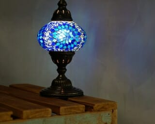 Turkish Mosaic Table Lamps BLue 2