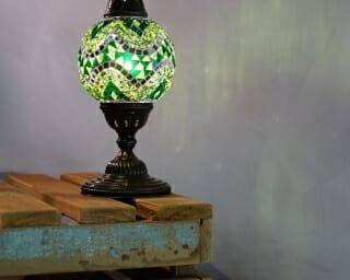 Turkish Mosaic Table Lamps Green