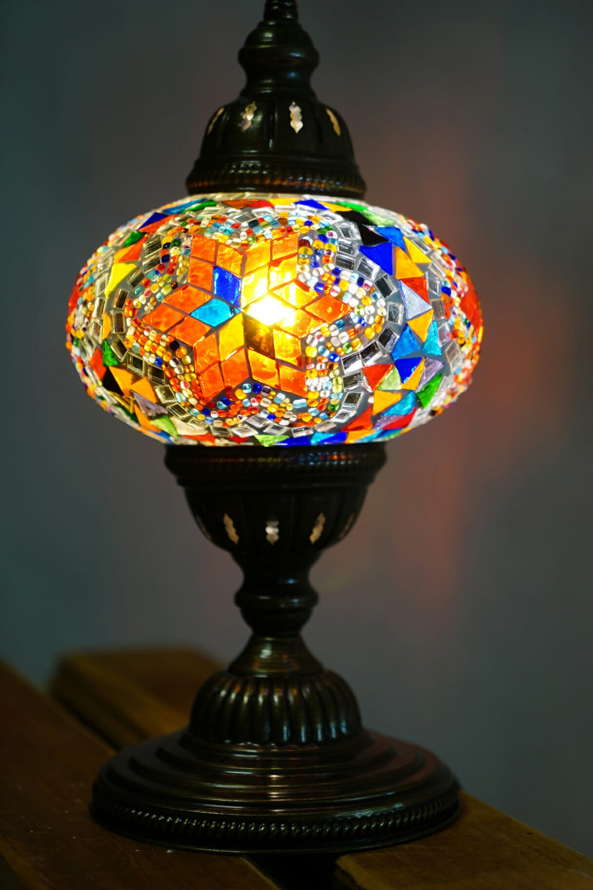 Star ufo mosaic table lamp the dancing pixie turkish mosaic table lamps star 3 aloadofball Images