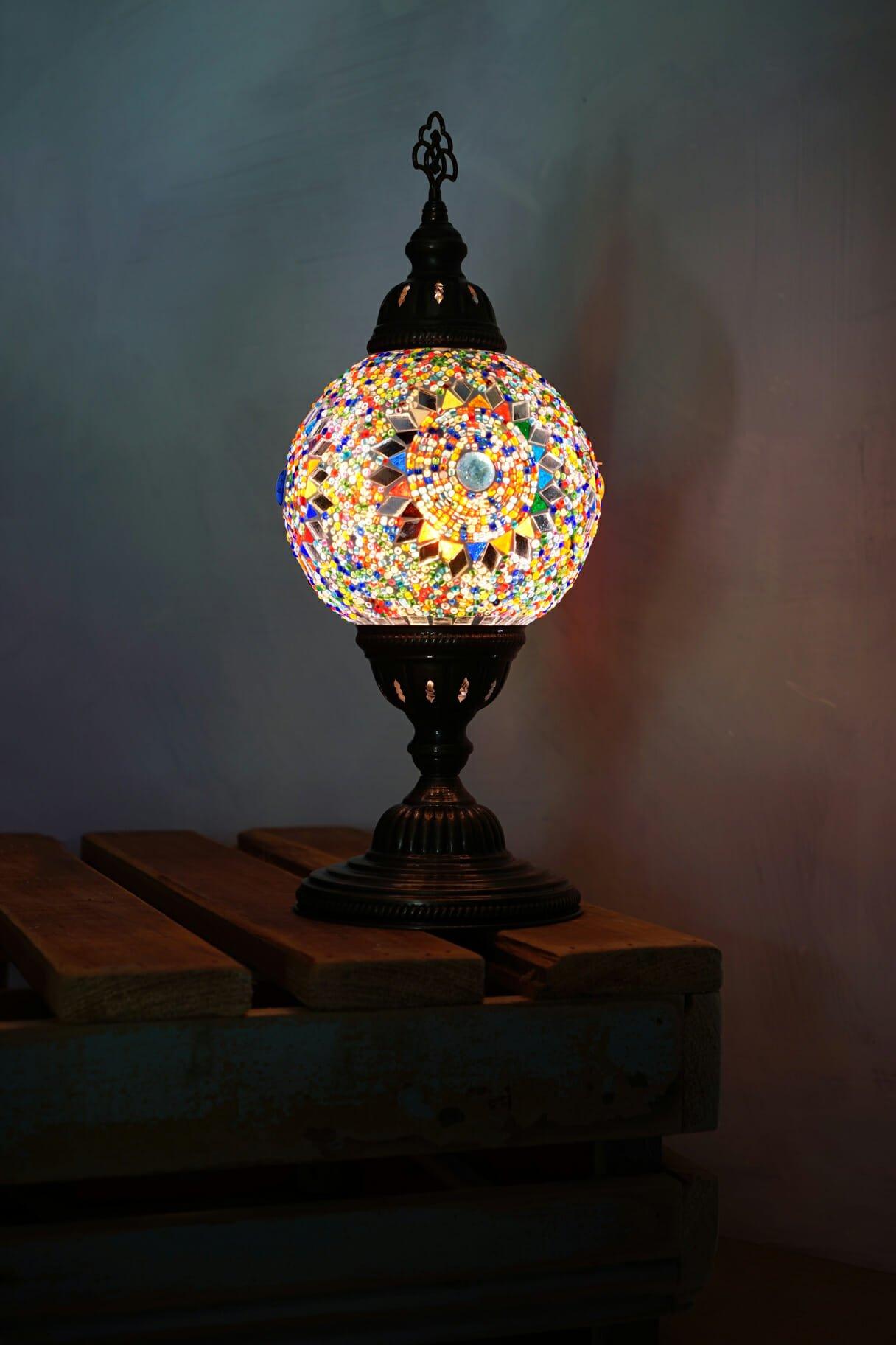 Sun Multi Coloured Globe Table Lamp The Dancing Pixie