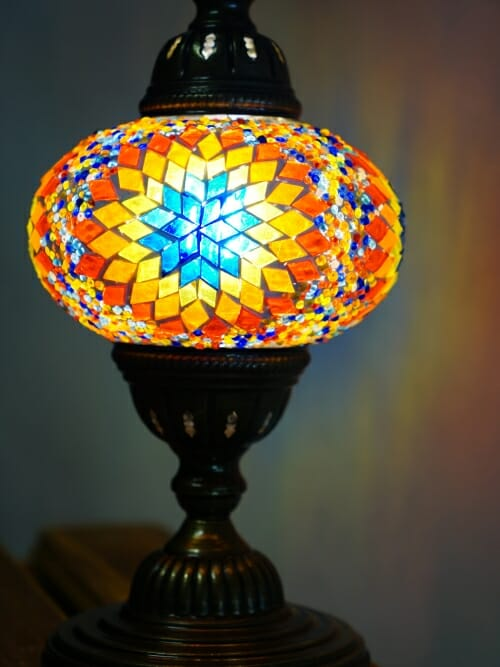 Turkish Mosaic Table Lamps Sun