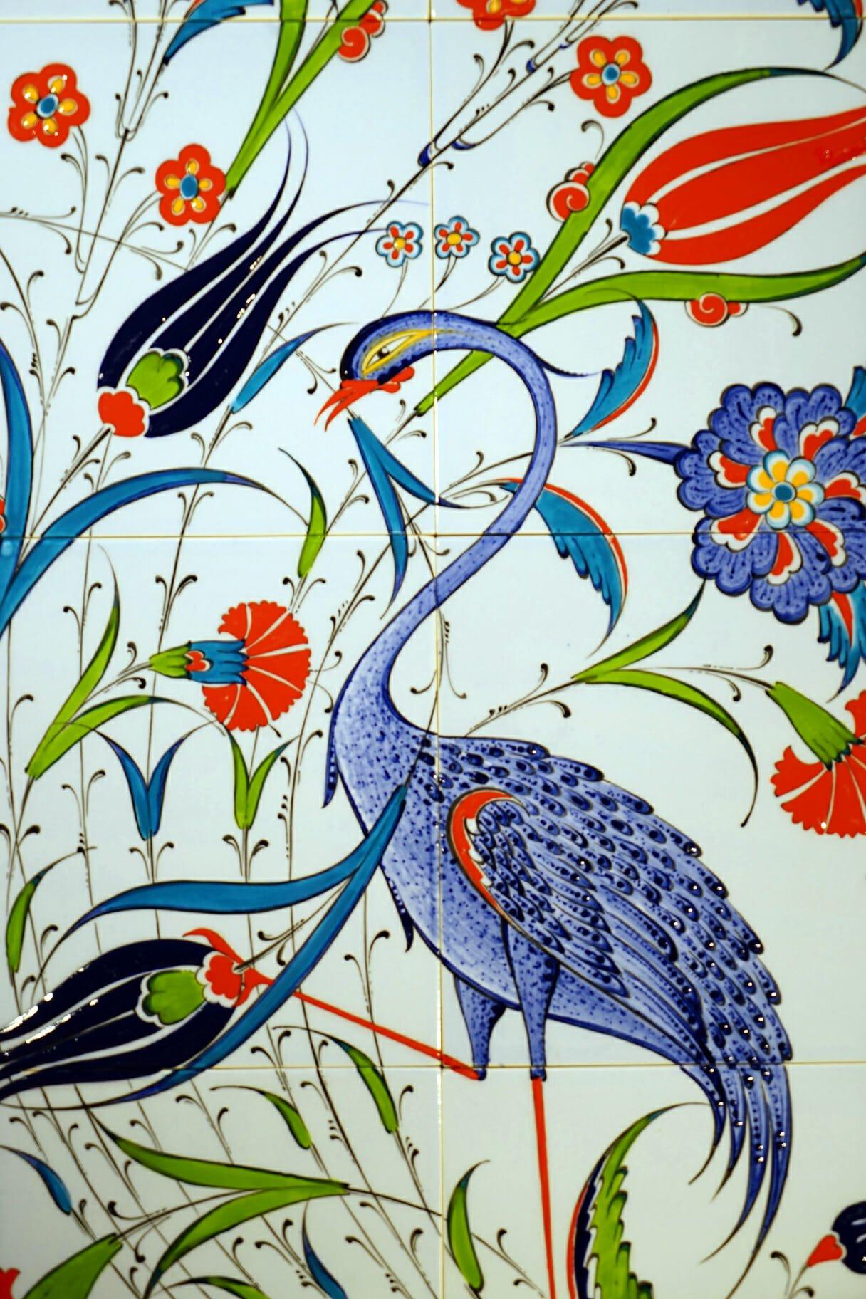 Blue Bird Picture Tiles (80 x 40) | The Dancing Pixie