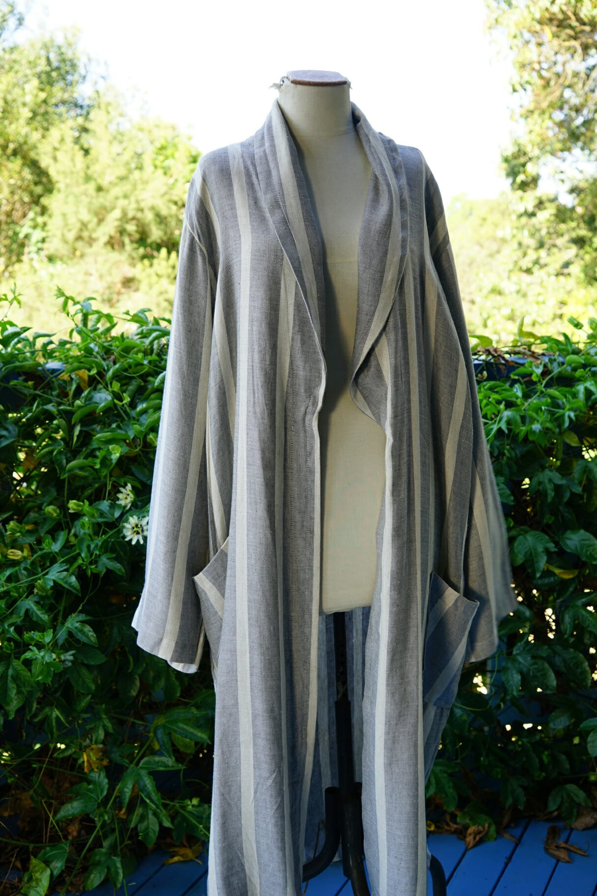 Poppy Linen Bath Robe The Dancing Pixie