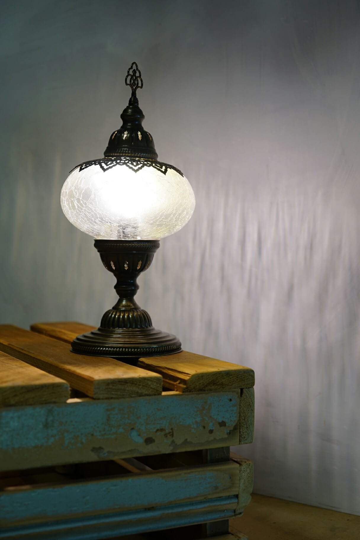 Cracked glass table lamp the dancing pixie turkish table lamp cracked glass 4 aloadofball Choice Image