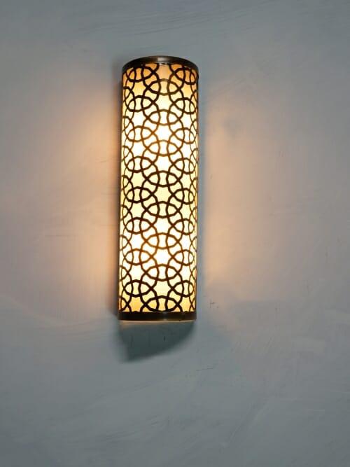 Brass lazer cut out wall light