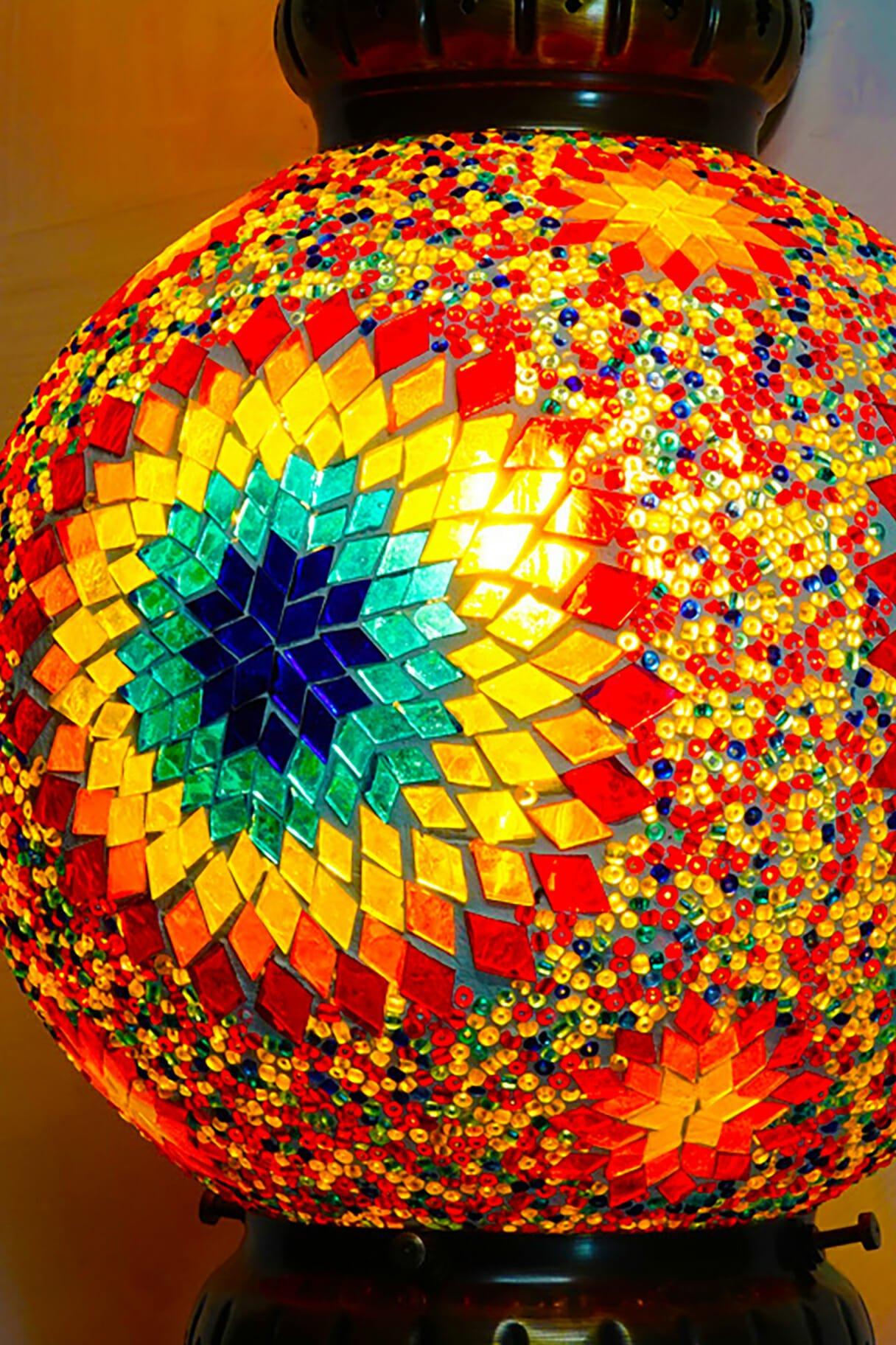Sun Multi Coloured Sphere Mosaic Wall Light The Dancing