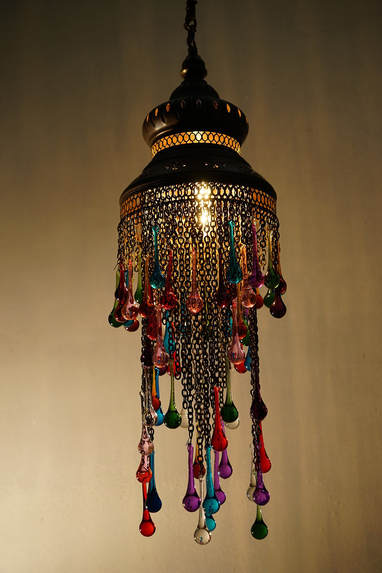 Coloured glass tear drop chandelier the dancing pixie coloured glass tear drop chande aloadofball Images