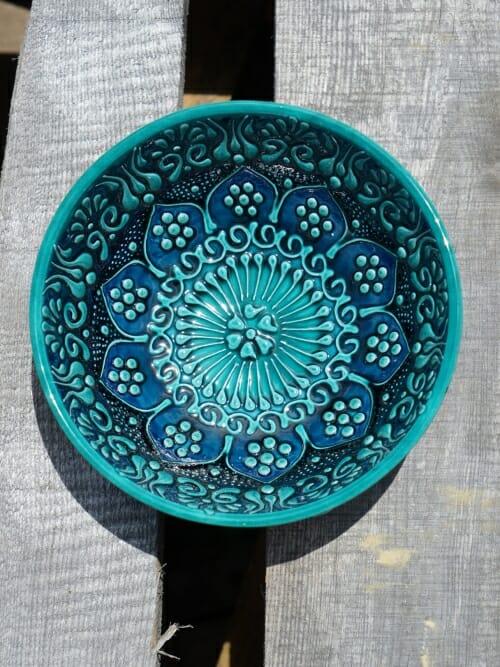 15cm dessert bowl green