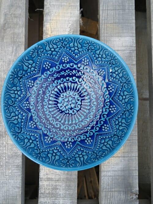 20cm dessert bowl blue