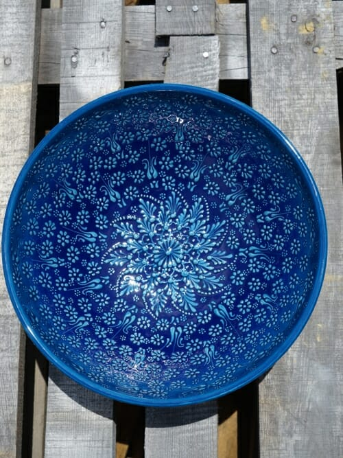 30cm salad bowl blue
