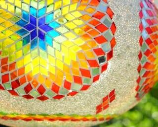 Chakra mosaic candle holder large