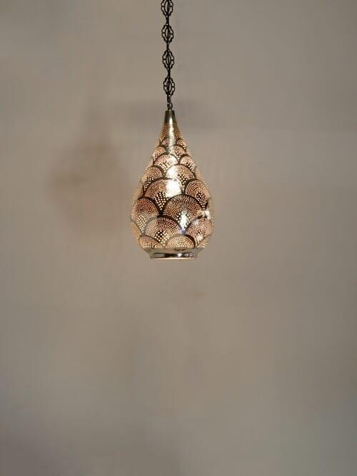 Silver Tea Drop Pendant Ceiling Light