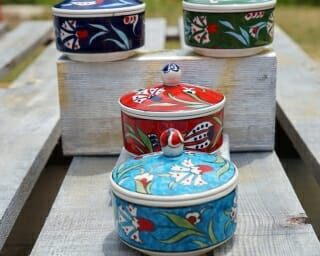 trinket box set of four large lid on