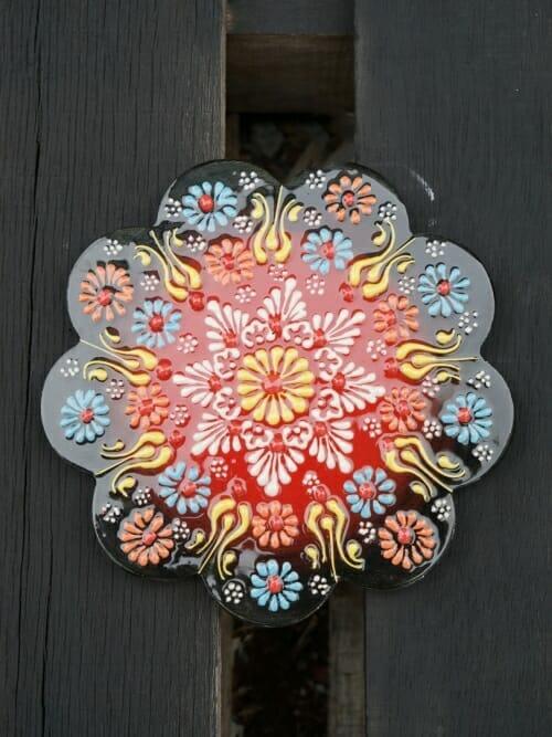 Trivet Hand Painted Ceramic Grevillea