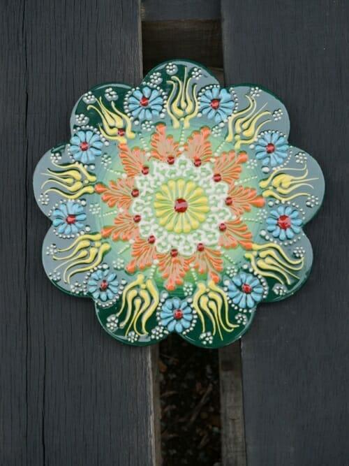 Trivet Hand Painted Ceramic Lemon Myrtle
