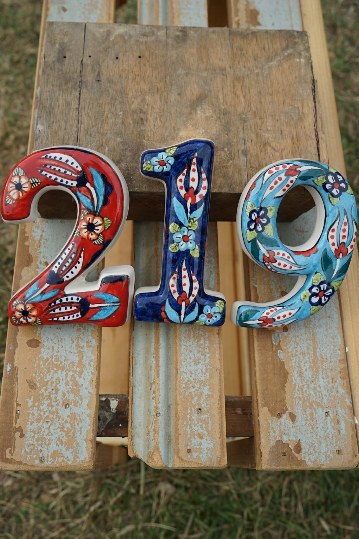 Old fashioned house numbers 75