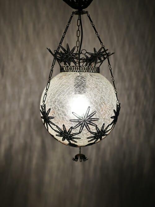 Filigree Cracked Glass Ceiling Light