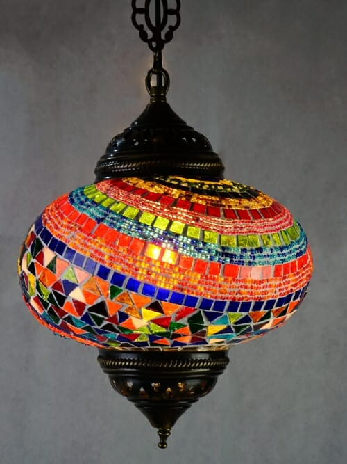 Fan mosaic pendant ceiling light
