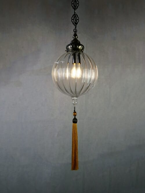 Medium Hand Blown Glass Pendant Ceiling Light