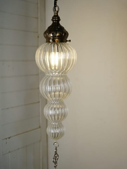 small bauble hand blown glass pendant ceiling light
