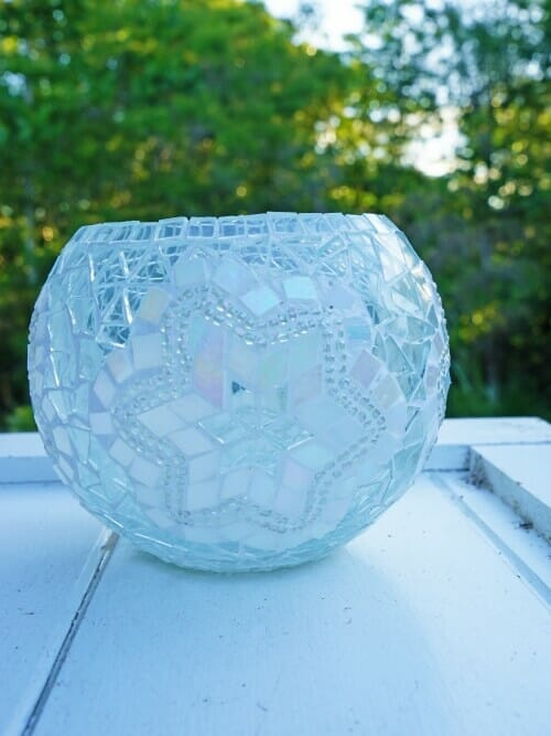 11cm pearl mosaic candle holder