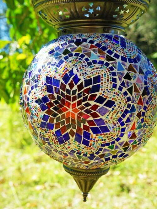 Manadala mosaic candle holder