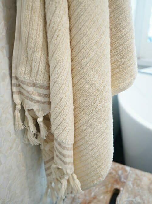 Beige Bath Towel 100% Cotton