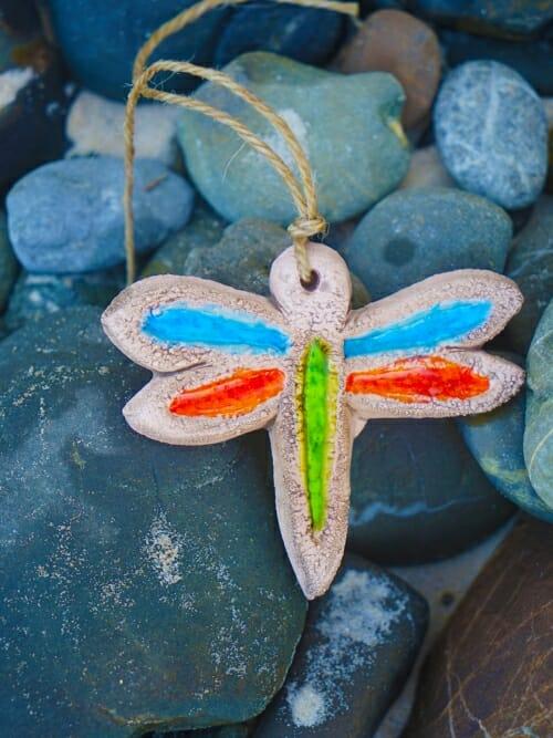 Dragonfly Garden Ornament on rocks