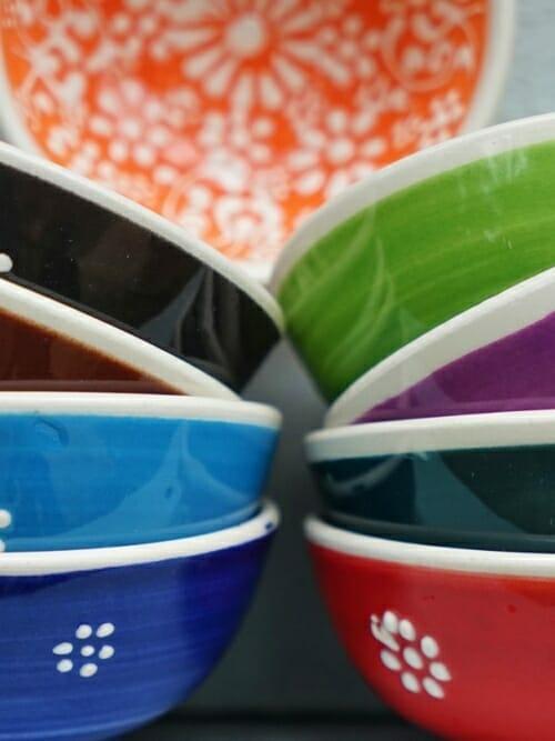 Set 5cm Lace Hand Painted Ceramic bowls thumbnail