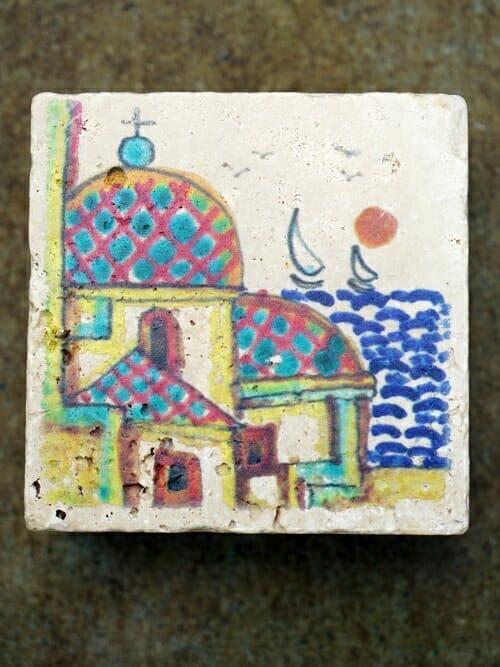 Vintage Travertine Printed Wall Tile #4