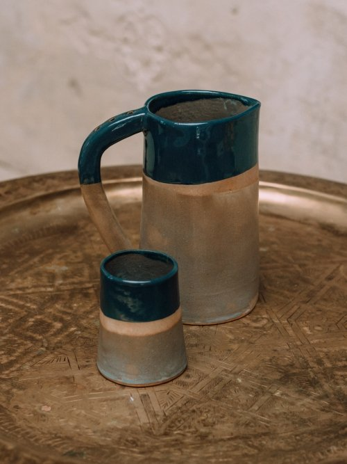 Green Jug and Cup set