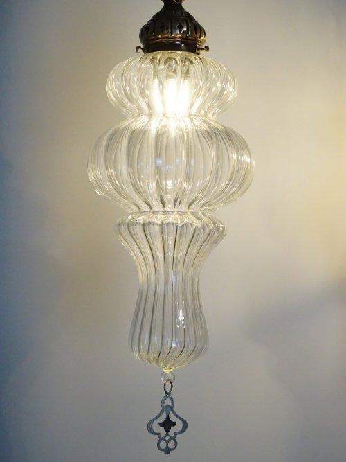 The Rose medium hand blown glass lights