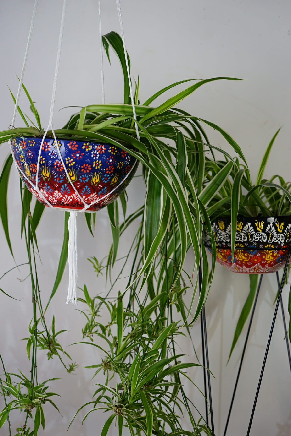 Small yellow hanging plant holder the dancing pixie