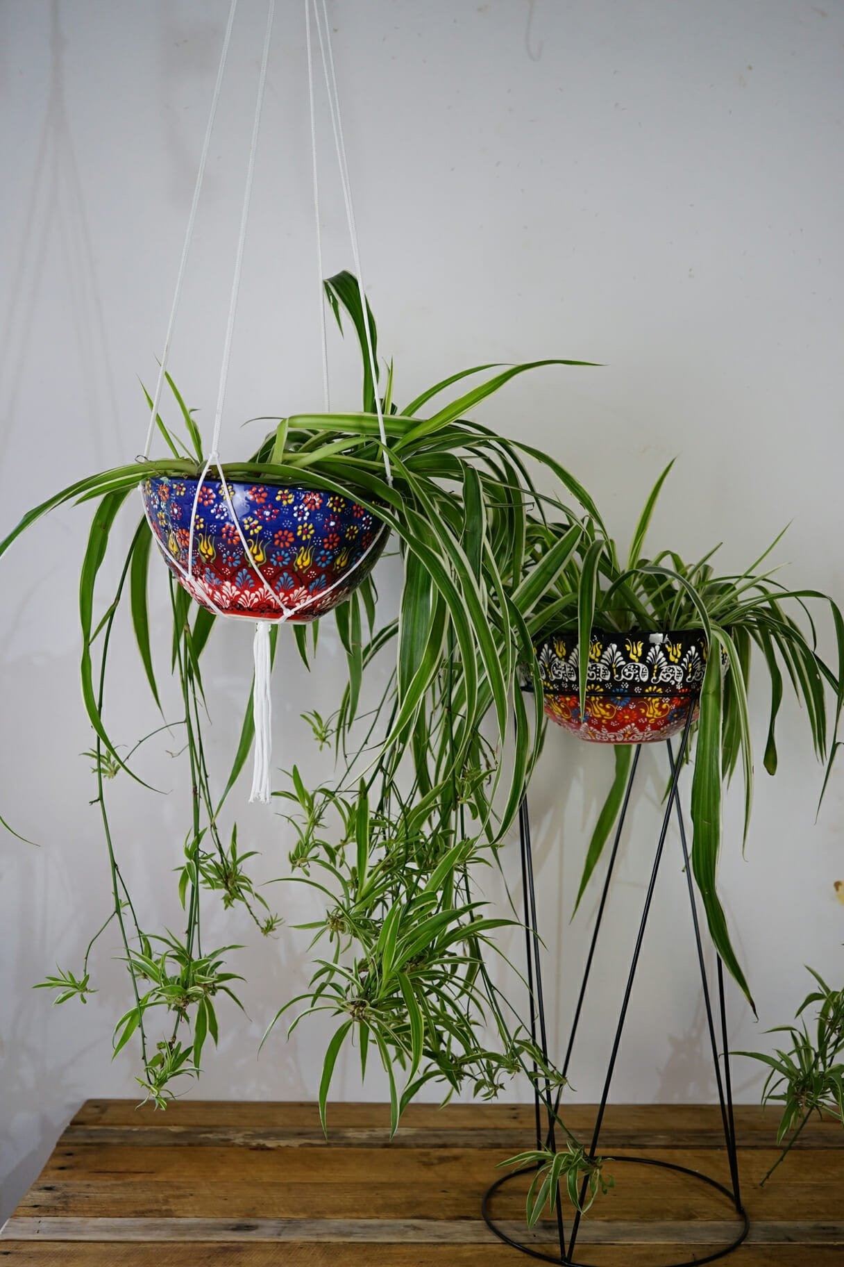 Large flame hanging plant holder the dancing pixie