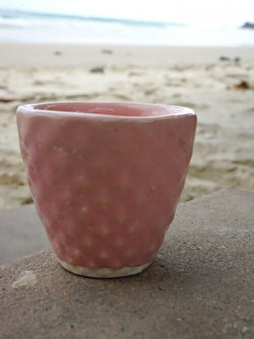 group of hand painted ceramic cups diamond