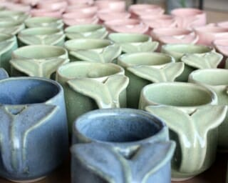 group of whale tail mugs